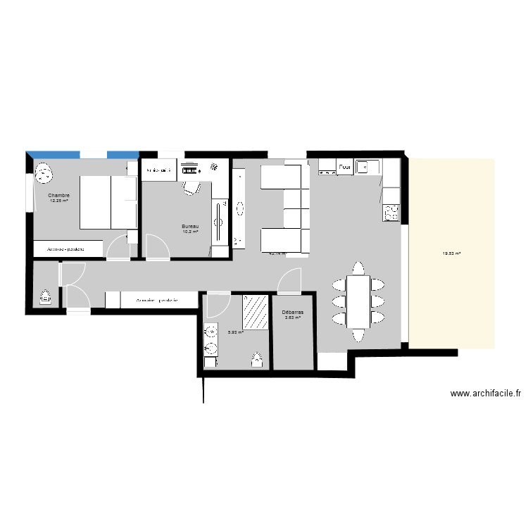 plan appartement 95 m2