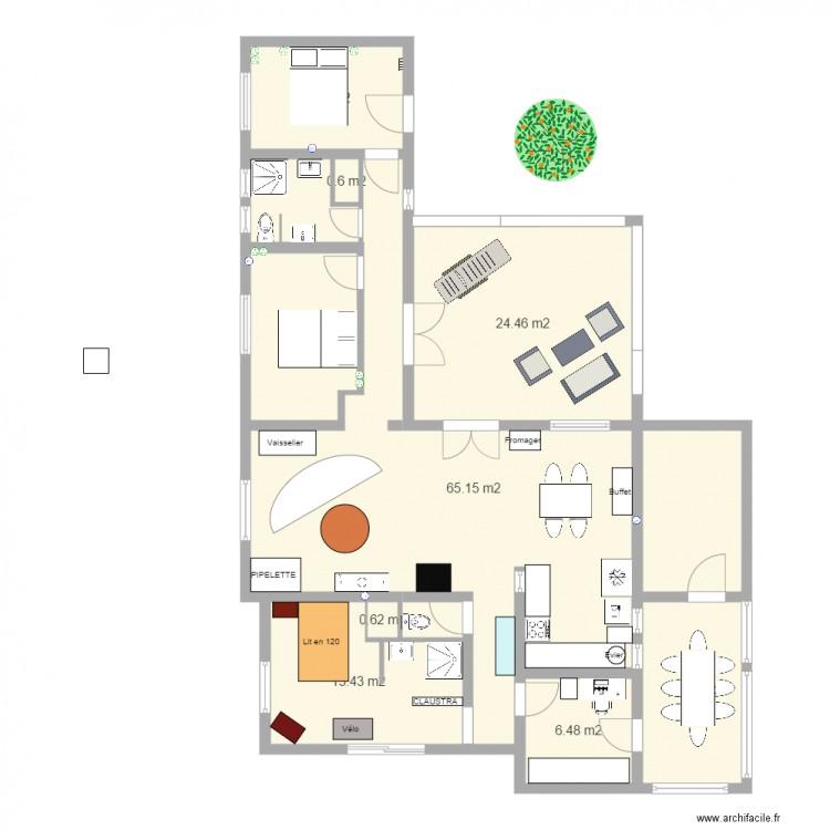 Plan definitif 2 plan 9 pi ces 140 m2 dessin par arx64 - Consommation electrique moyenne maison 140 m2 ...