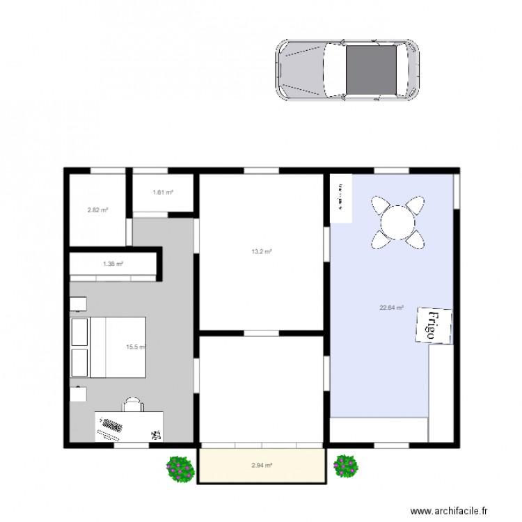 Maison Creole Plan 7 Pi Ces 60 M2 Dessin Par Pipleo
