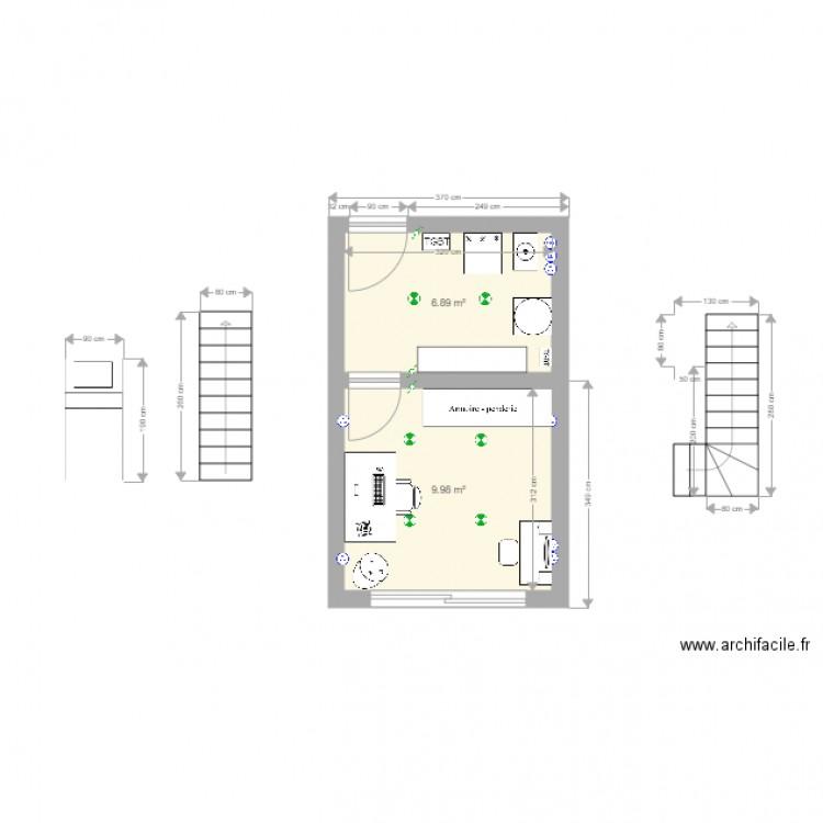 garage amenage plan 2 pi ces 17 m2 dessin par alexis50. Black Bedroom Furniture Sets. Home Design Ideas