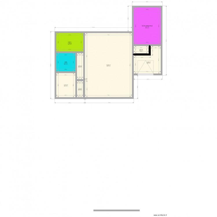 Maison s plan 9 pi ces 146 m2 dessin par ccj33 - Consommation electrique moyenne maison 140 m2 ...