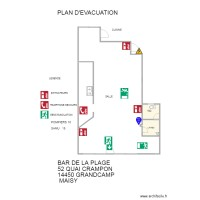 bar PLAN EVACUATION
