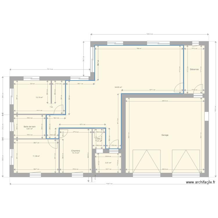 Idee Plan Maison Plan 9 Pieces 153 M2 Dessine Par Joly Thierry