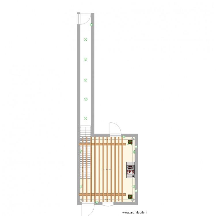 Patio plan 1 pi ce 23 m2 dessin par xav71 for Dessiner plan patio