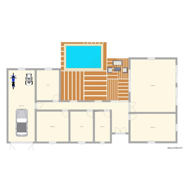 Maison fatih plan 2 pi ces 62 m2 dessin par fatihyenil - Plan de maison 2 pieces ...