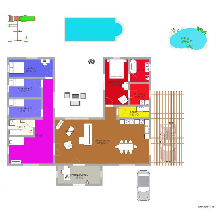 maison algeco plan 11 pi ces 179 m2 dessin par floriemaxime. Black Bedroom Furniture Sets. Home Design Ideas