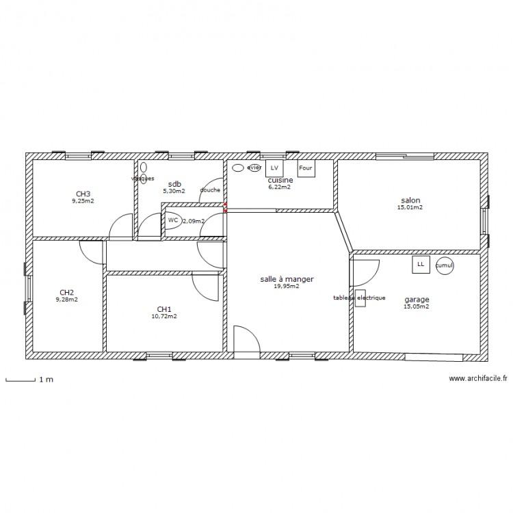 maison 95m2 plan 9 pi ces 93 m2 dessin par loran31