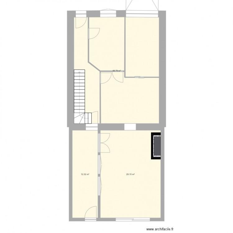 maison la roche sur yon plan 3 pi ces 90 m2 dessin par bisuc. Black Bedroom Furniture Sets. Home Design Ideas