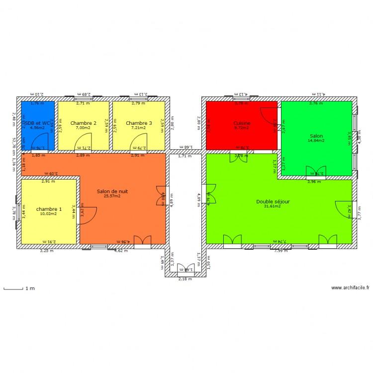 Maison Duplex Ang Modifi E Plan 8 Pi Ces 111 M2 Dessin