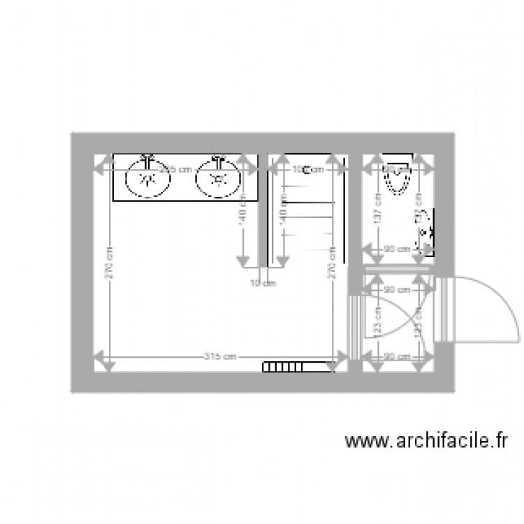Salle De Bain Plan 3 Pi Ces 11 M2 Dessin Par Martin Cyrille