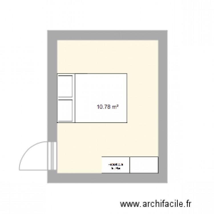 Chambre plan 1 pi ce 11 m2 dessin par angybzh for Chambre one piece
