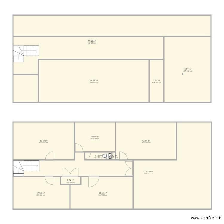 lafrette sur seine 1 plan 13 pi ces 200 m2 dessin par loulouc95. Black Bedroom Furniture Sets. Home Design Ideas