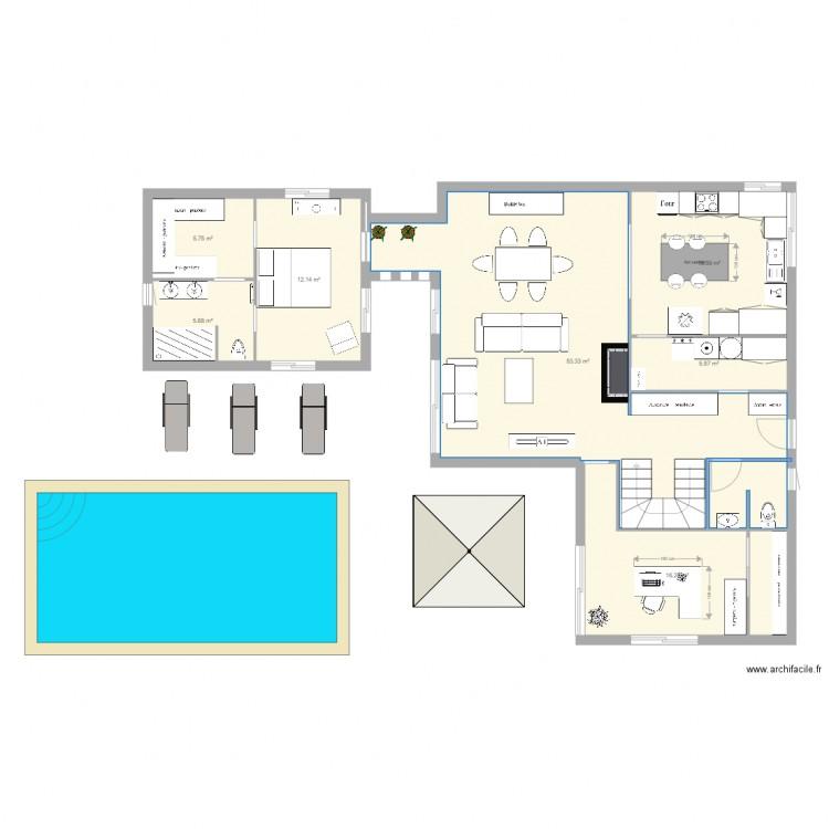 L alt o maison plan 7 pi ces 115 m2 dessin par lealteo31 for Modifier plan maison