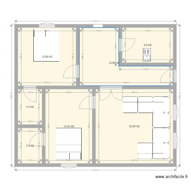 Pour mes parents plan 7 pi ces 75 m2 dessin par tymajialu for Dessine mes plans de maison