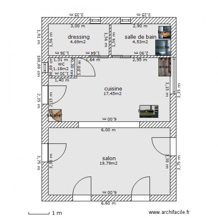 plan de maison 48m2