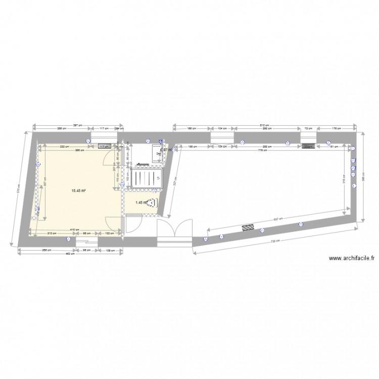 maison du gardien plan electrique plan 3 pi ces 17 m2 dessin par babydom971. Black Bedroom Furniture Sets. Home Design Ideas