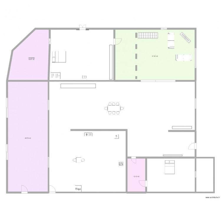 Agrandissement maison 5 plan 4 pi ces 217 m2 dessin par for Agrandissement maison plan