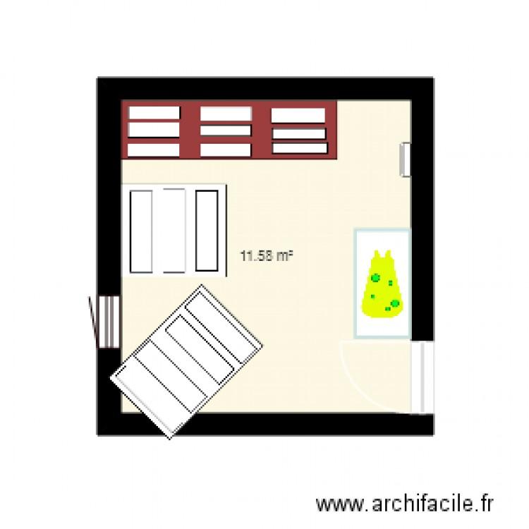 Plan Chambre Pour Bebe Plan 1 Pi Ce 12 M2 Dessin Par