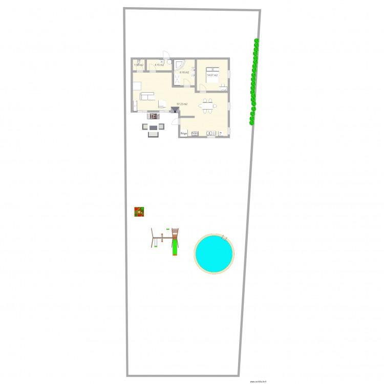 Maison Terrain 600m2 Entree Sud 4. Plan De 5 Pièces Et 86 M2