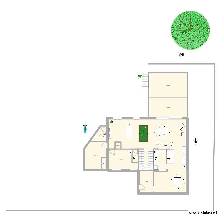 Plan plan 6 pi ces 162 m2 dessin par bouletni2 for 162 plan