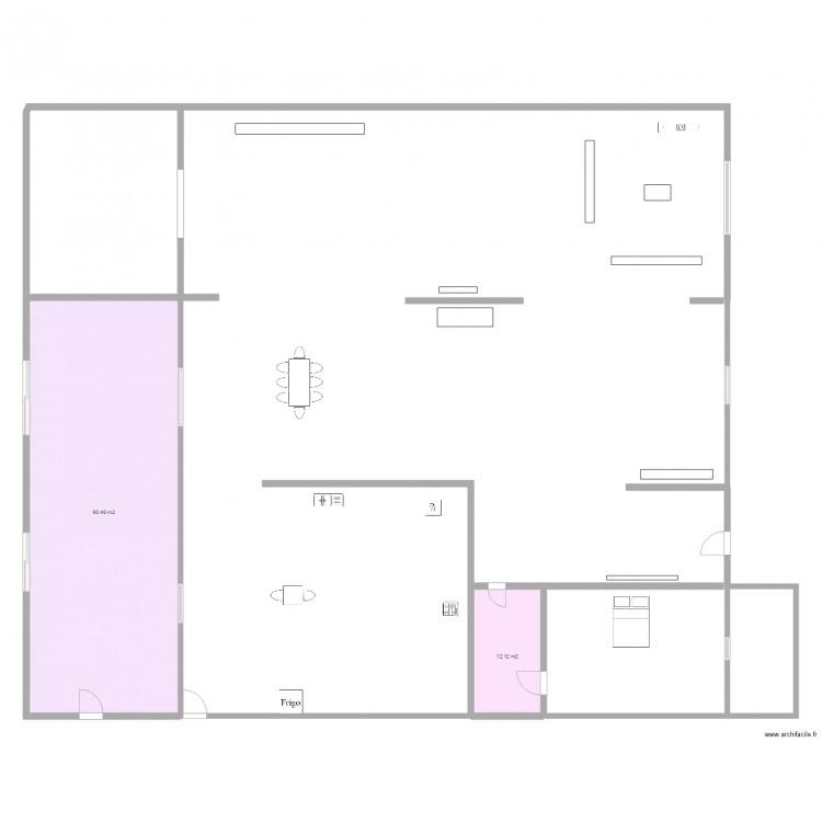 Agrandissement maison 6 plan 2 pi ces 103 m2 dessin par for Agrandissement maison plan