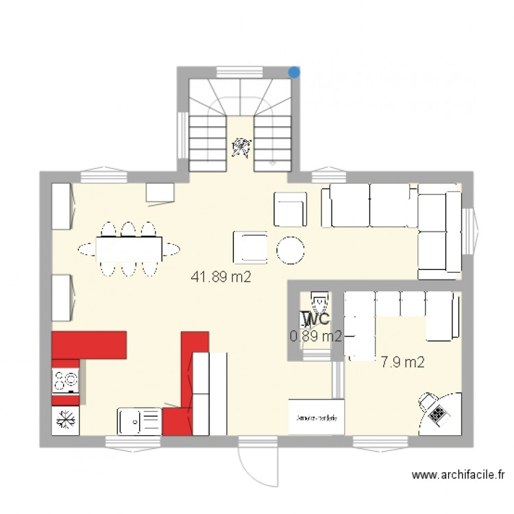 Rdc Maison Plan De 3 Pi Ces Et 50 M2 Pictures To Pin On