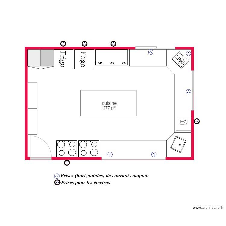 Cuisine martinef plan 1 pi ce 26 m2 dessin par claire04 for Coller un miroir sur une porte