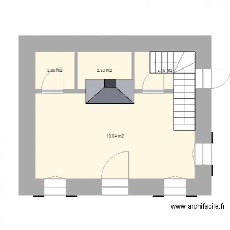 rez de chauss plan 4 pi ces 27 m2 dessin par lutinette18. Black Bedroom Furniture Sets. Home Design Ideas