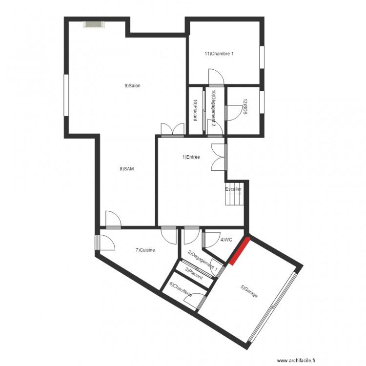 Leoni rdc plan 12 pi ces 120 m2 dessin par ac2i leraincy - Plan appartement 120 m2 ...