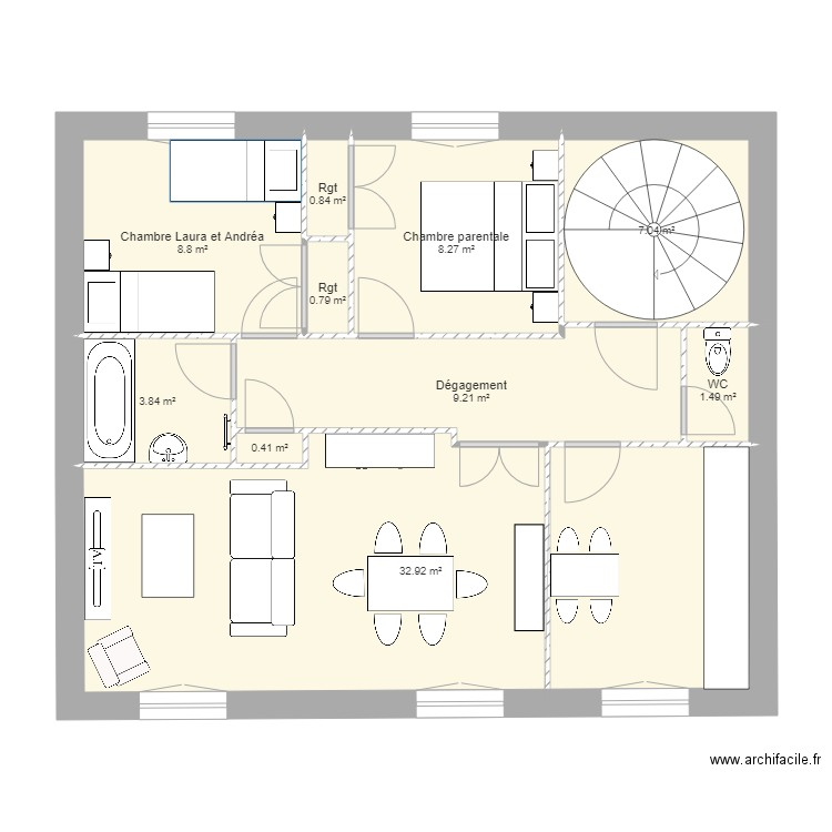 plan appartement rgt