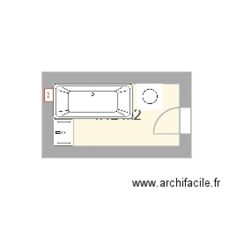 Salle de bain non plan 1 pi ce 4 m2 dessin par jessica02 for Salle de bain 4 m2