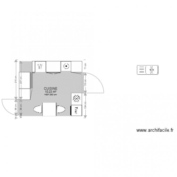 cuisine plan 1 pi ce 10 m2 dessin par gif. Black Bedroom Furniture Sets. Home Design Ideas