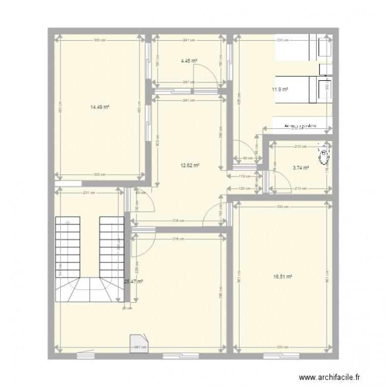 Ma maison 1 plan 7 pi ces 89 m2 dessin par zelbeb for Dessine ma maison gratuitement