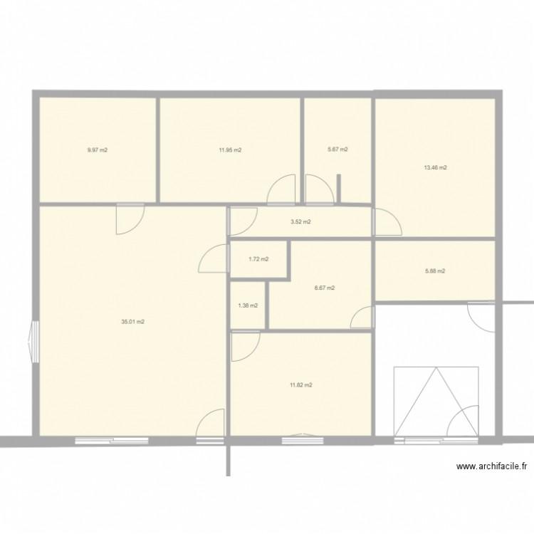 Plan maison guillaume plan 11 pi ces 107 m2 dessin par for Taille moyenne maison