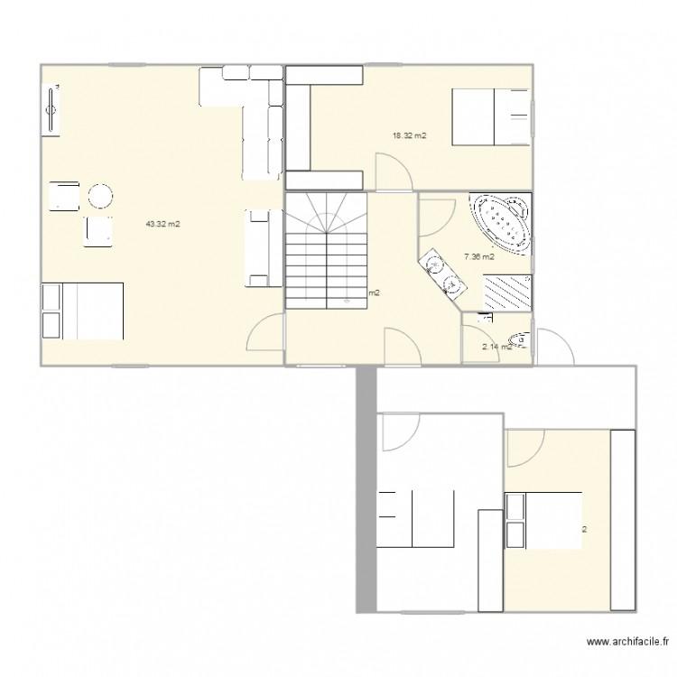 plan 1er etage complet plan 6 pi ces 101 m2 dessin par