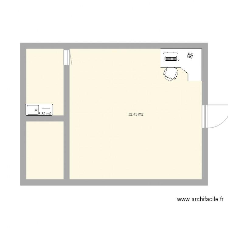 Ma maison plan 2 pi ces 41 m2 dessin par elham for Dessine ma maison gratuitement