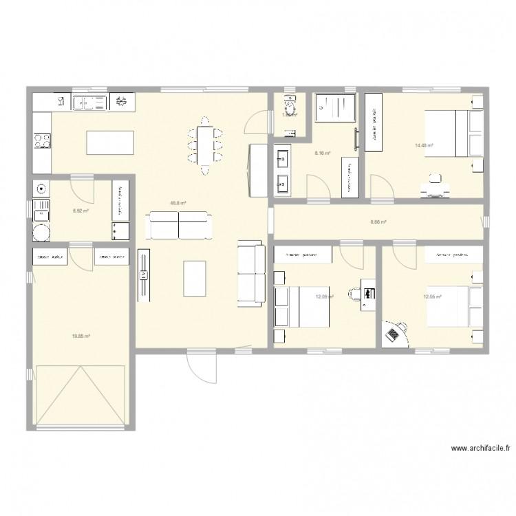 Ma maison plan 9 pi ces 133 m2 dessin par chrismarc6259 for Dessine ma maison gratuitement