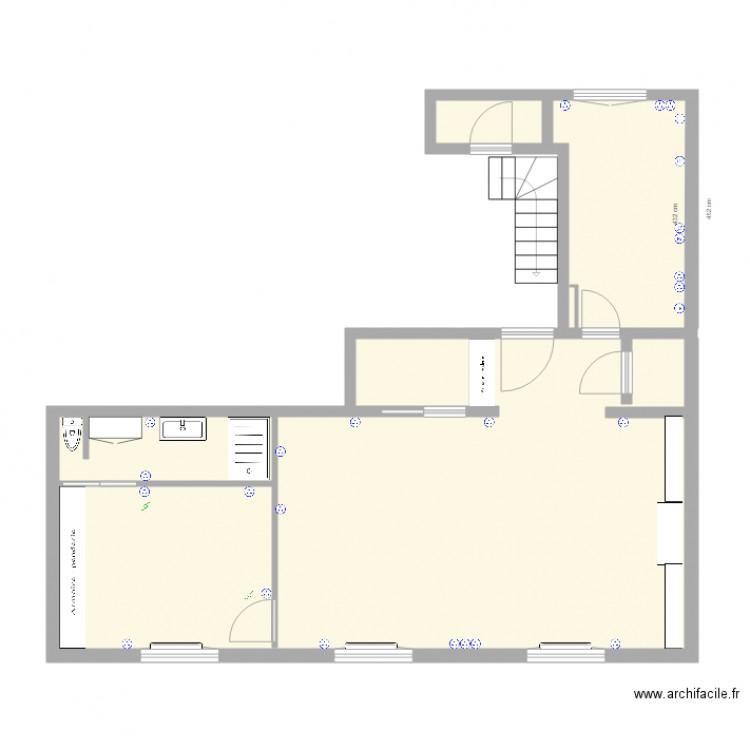 Appartement t3 electricit plan 4 pi ces 71 m2 dessin for Plan d appartement t3