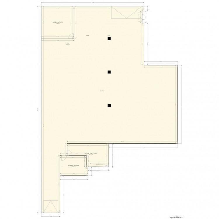 entrepot nanterre vide plan 4 pi ces 514 m2 dessin par lpr116118. Black Bedroom Furniture Sets. Home Design Ideas