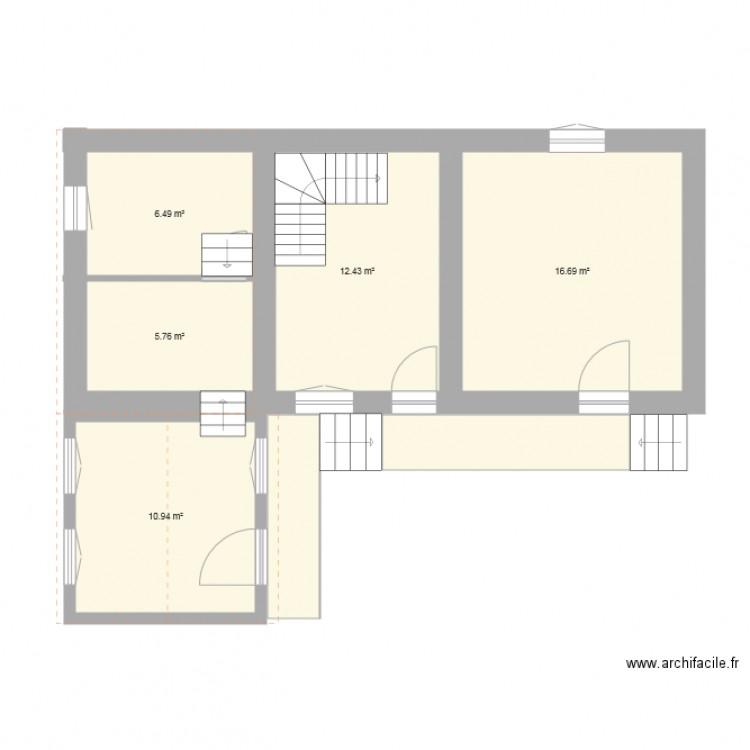 maison plan 7 pi ces 60 m2 dessin par mitch16s. Black Bedroom Furniture Sets. Home Design Ideas
