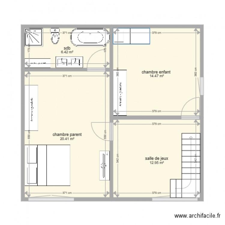 R novation maison ronchamps tage plan 4 pi ces 54 m2 - Plan renovation maison ...