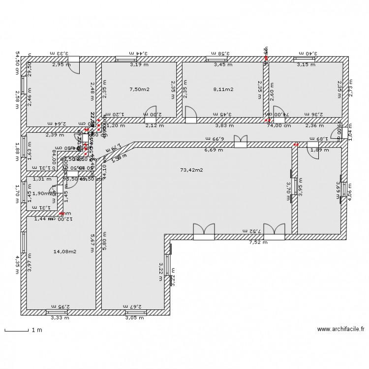 maison familiale plan 5 pi ces dessin par ondy. Black Bedroom Furniture Sets. Home Design Ideas