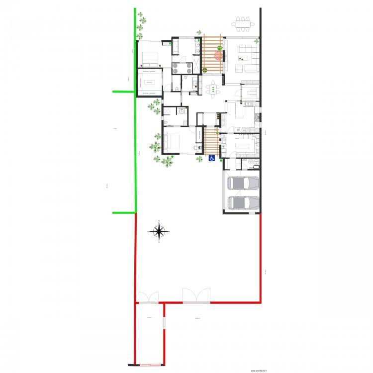 16 avril 2016 plan 20 pi ces 229 m2 dessin par fredbau for Je dessine ma maison