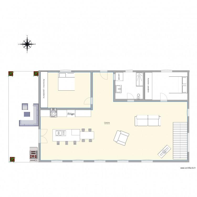 plan de maison 24 x 24