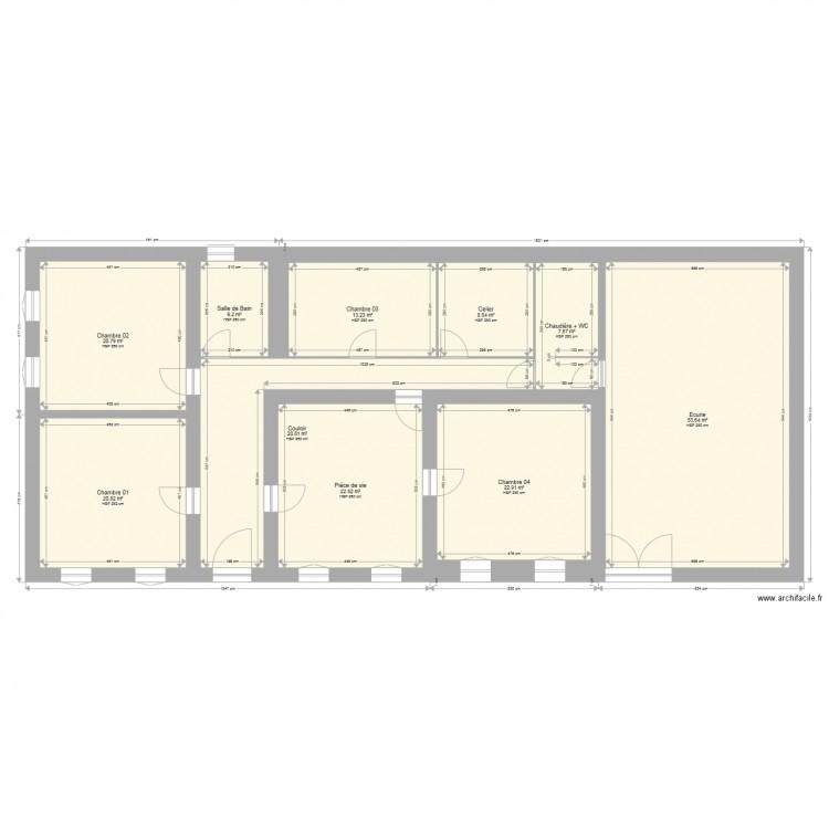 Plan de masse 2d avant travaux plan 10 pi ces 197 m2 dessin par rougette - Plan 2d facile ...