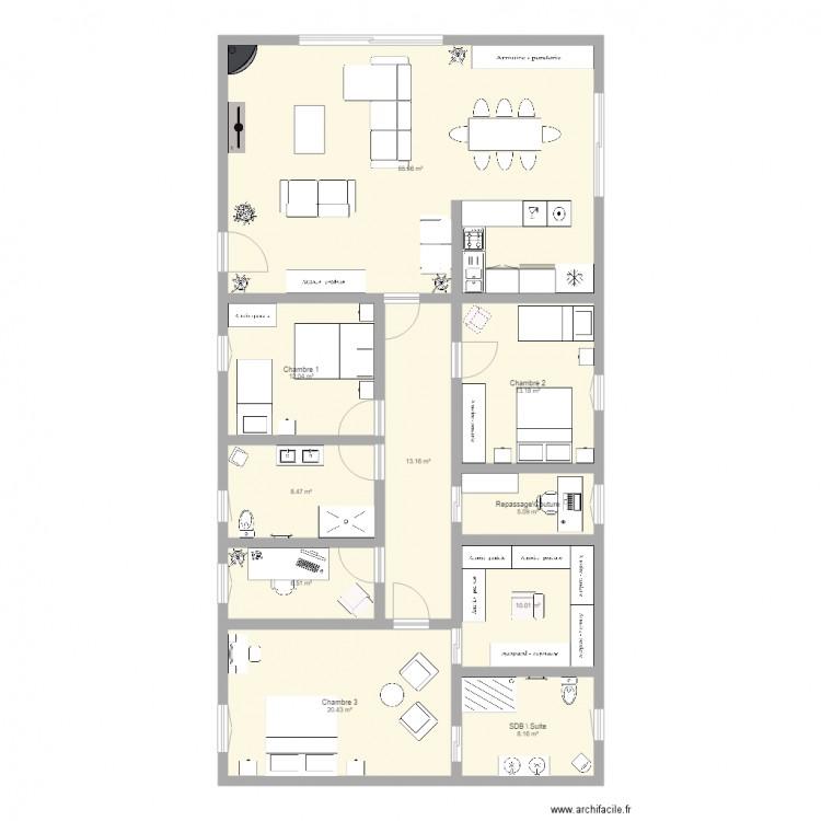 Ma maison 2 plan 10 pi ces 153 m2 dessin par jean972 for Dessine ma maison gratuitement