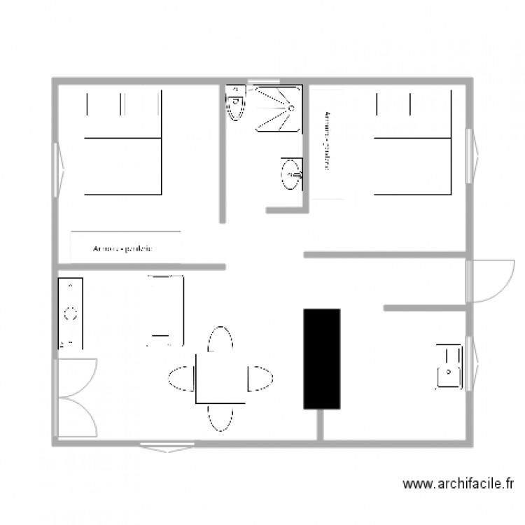plan de maison 45 m2