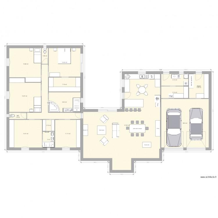 Assez Ma maison idéale v1 - Plan 17 pièces 245 m2 dessiné par pasto37 JA95