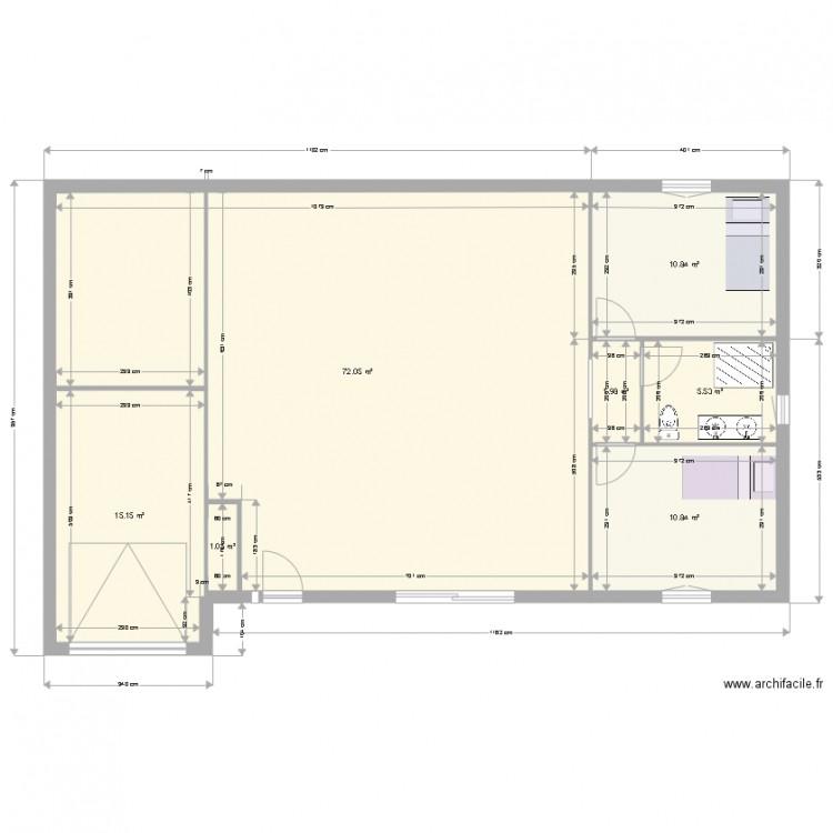 La maison de mes r ves 2 plan 7 pi ces 117 m2 dessin for Mes plans de maison