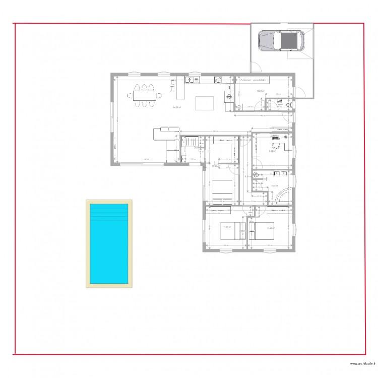 Plan maison plan 9 pi ces 140 m2 dessin par yoann for Plan maison 140m2